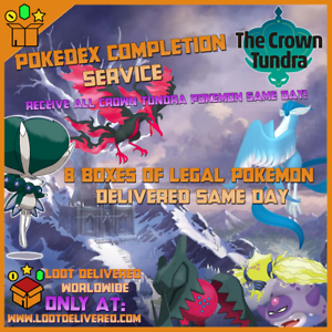 Pokemon-Sword-amp-Shield-Pokemon-Crown-Tundra-Pokedex-Completion-Service