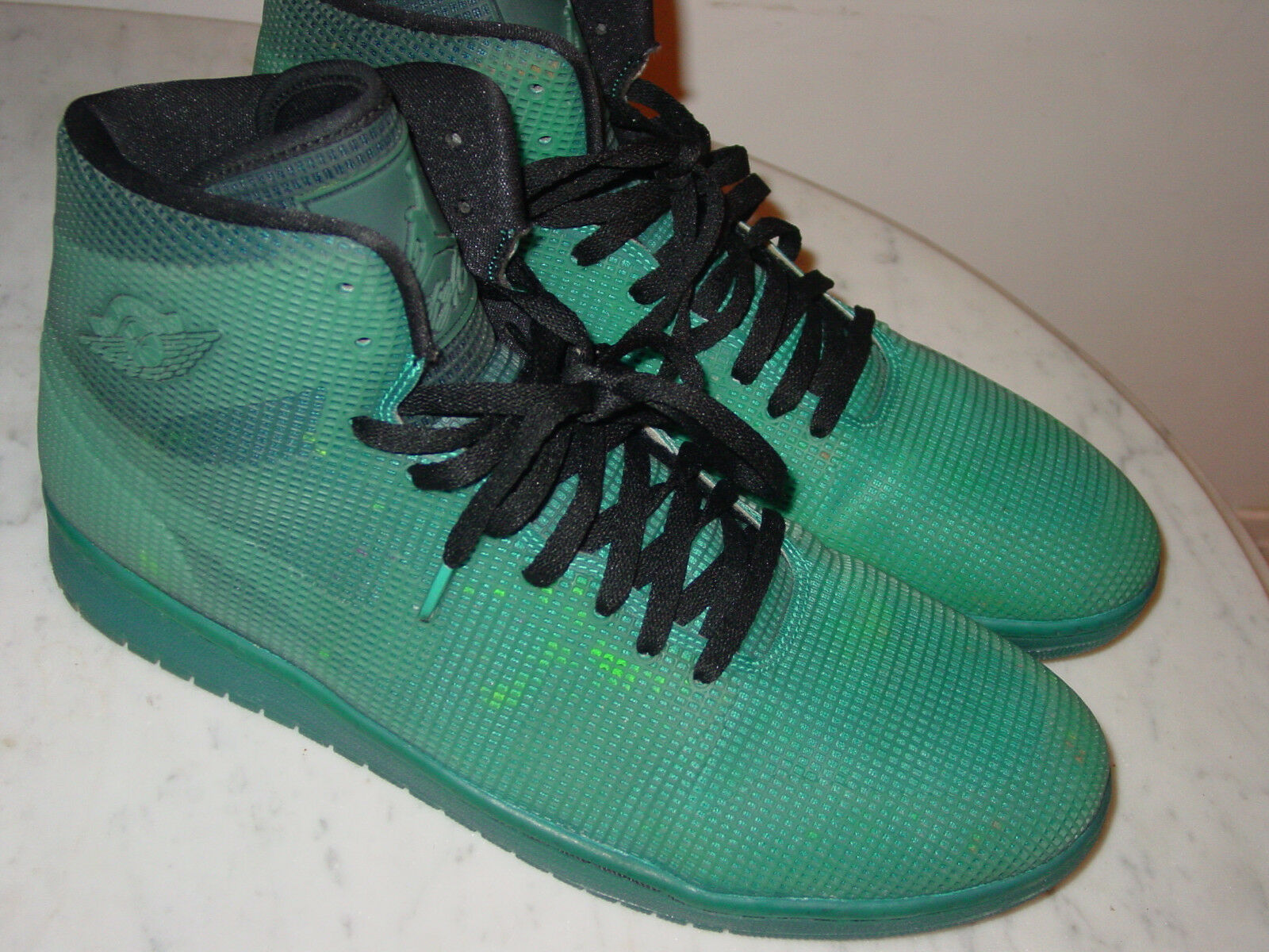 2014 Nike Teal Air Jordan 4LAB1 Black/Tropical Teal Nike Basketball Shoes! Size 15 220.00 61219d
