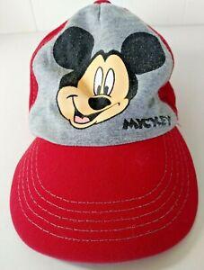 Gorra-De-Disney-Mickey-Mouse-Rojo-Gris-Tamano-Ajustable