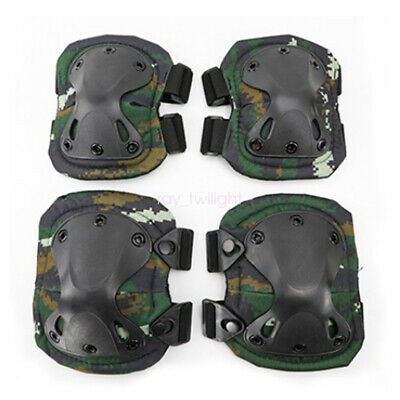 Adjustable Airsoft Tactical Combat Knee and Elbow Protector Pads Skate Knee Pads