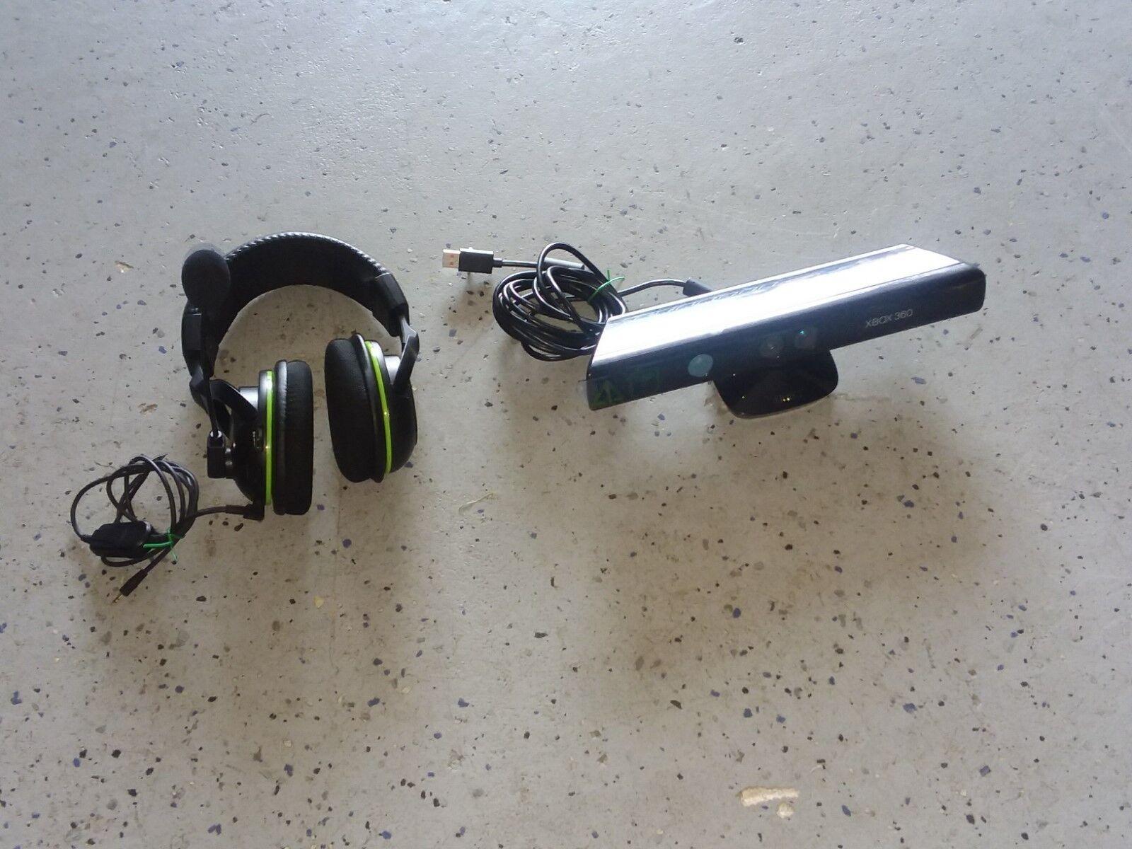 Genuine OEM Microsoft Xbox 360 Kinect Motion Sensor Bar & Earforce X32 Headset