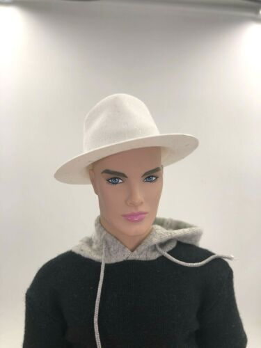 1//6 White Hat Outfit for Fashion Royalty Integrity Doll Poppy Parker NU.Face