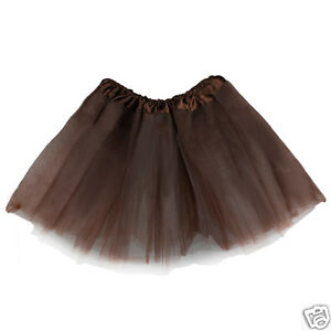 Kids Dance Costume Girl's Tutu Skirt Ballet Dress Wear - Coffee Brown