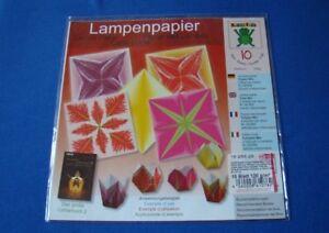 Lampenpapier-falten-Tulpen-Mix-20-x-20-cm-Origami-10-Blatt-120-g-m