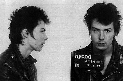 SID VICIOUS MUG SHOT GLOSSY POSTER PICTURE PHOTO mugshot sex pistols rock 1325