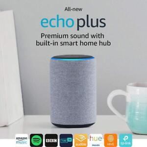 Amazon Eco Plus (2nd generación) PREMIUM Altavoz inteligente-Heather (Nuevo)