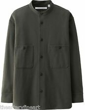 LEMAIRE x UNIQLO 'Full-Open' Sweat Long-Sleeve Shirt Men's M Dark Green **NWT**