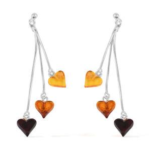 925-Sterling-Silver-Amber-Elegant-Dangle-Drop-Earrings-Jewelry-Gift-for-Women
