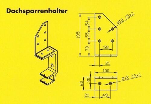 Dachsparrenhalter für Markisen Konsole für 40er Tragrohr Dachmontage