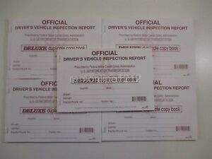 Lot of 25 JJ Keller 685 15B Detailed Driver/'s Vehicle Inspection Reports