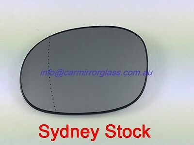 RIGHT DRIVER SIDE PEUGEOT 206 206cc 10//1999-5//2007 MIRROR GLASS WITH BASE