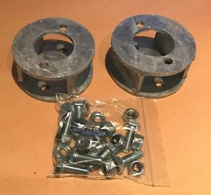 LAND-ROVER-DISCOVERY-1-GALVANISED-SPRING-SPACER-BLOCK-KIT-50mm-2-034-LIFT-QTY-2