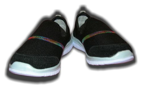 Girls Trainers Go Walk Ultra Light Mesh Black or Pink  PANTHER  Sizes 28-38