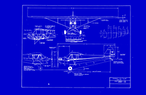 Piper J-3 Cub Airplane Blueprint Plan 180