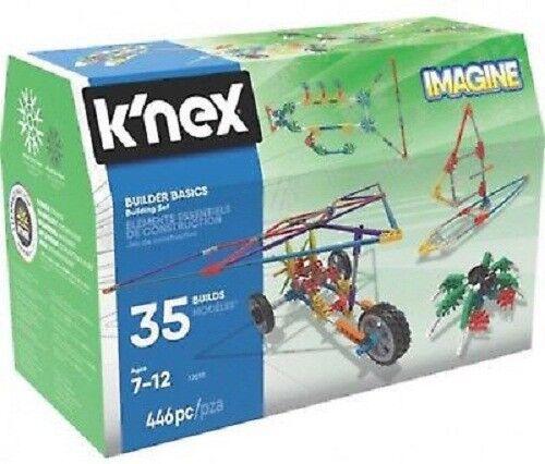5 x Brand NEW K'NEX Builder Basic 35 Model Building Set  (446pcs)