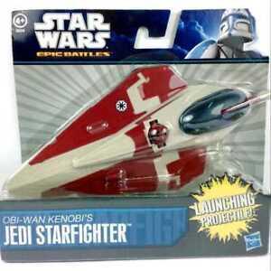 Hasbro-7-034-Star-Wars-battaglie-epiche-Obi-Wan-Kenobi-Jedi-Starfighter-nuovo-giocattolo-regalo