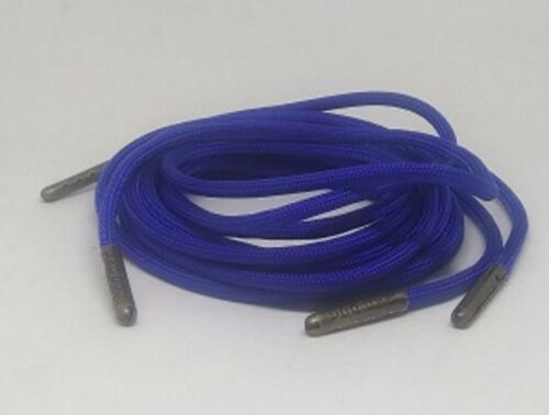 Neon Blue Boot Laces *Guaranteed for Life* 550 Paracord Steel Tip