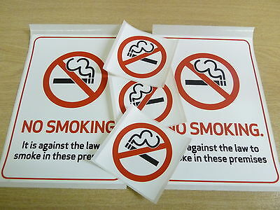 Choice Of 2 Sizes Products Are Sold Without Limitations Durable Plastic Labels Smart No Smoking Stickers