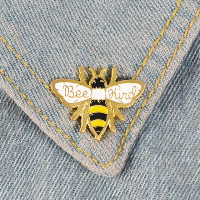 Cartoon Honeybee Enamel Brooch Pins Decoration Bag Clothes Corsage Badge Jewe Jw