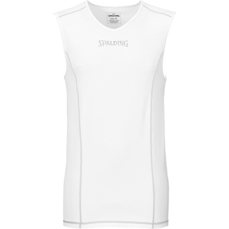 Spalding Basketball Compression Function Tank Top White