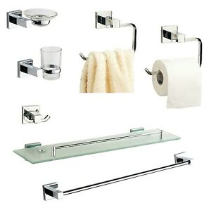 image is loading bathroom accessories chrome square cubic style wall mounted