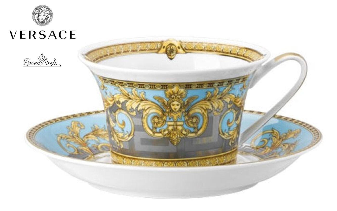 Versace Rosenthal Prestige Gala Le Bleu Tazza Tè con Piattino Rif.14640