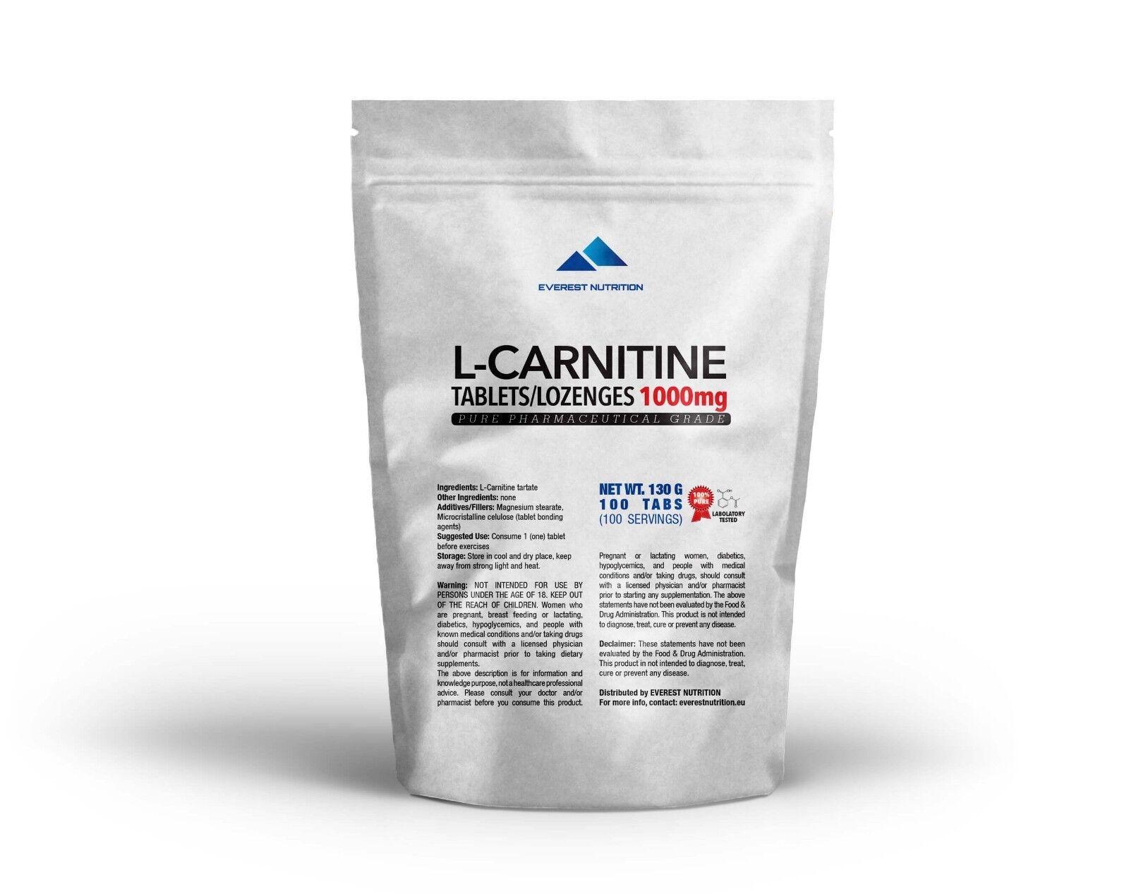L-Carnitin Carnitin Tabletten   Lutschtabletten 1000 mg Verbrennt Fett
