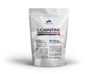 L-Carnitin-Carnitin-Tabletten-Lutschtabletten-1000-mg-Verbrennt-Fett