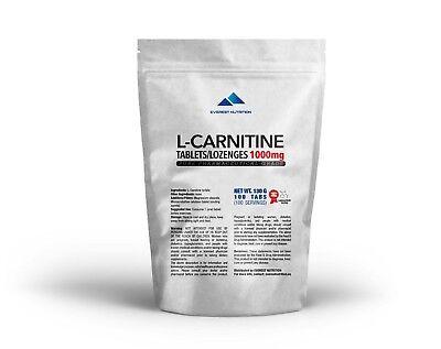 Aus Dem Ausland Importiert L-carnitin Carnitin Tabletten / Lutschtabletten 1000 Mg Verbrennt Fett 100% Original