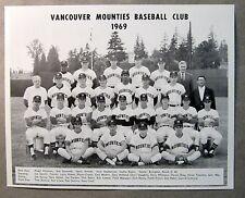 original 1969 VANCOUVER MOUNTIES team photo SEATTLE PILOTS PCL Farm Team mint