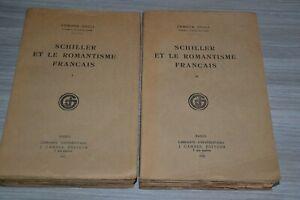 SCHILLER-ET-LE-ROMANTISME-FRANCAIS-2-TOMES-EGGLI-EDMOND-1927-Ref-Z2