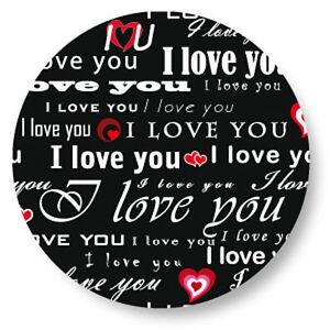 Magnet Aimant Frigo Ø38mm Motif I love You je t /'aime Saint Valentin Amour