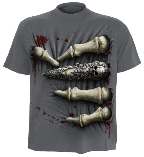 T mort ᄄᄂ shirt dᄄᆭrapant anti directemotardtatouagesquelettemᄄᆭtal spirale yvmNn0Ow8