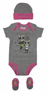 Converse-All-Star-Infant-Girls-3-Piece-Set-Cap-Bodysuit-Booties-0-6-mo-Grey-Pink