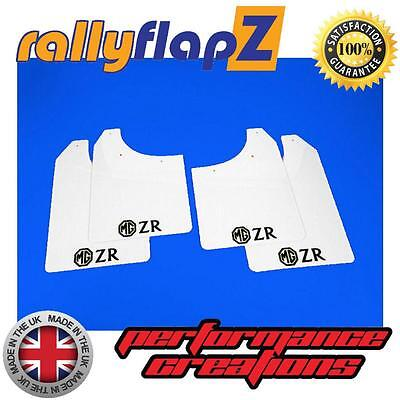 Rally Mudflaps to fit ROVER MG ZR Mud flaps Red Set of 4 White Logo 4mm PVC