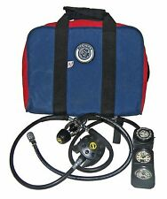 ➤US Divers Aqua-Lung Conshelf 20 Supreme Scuba Diving Reg+Dacor 3-Gauge Console!