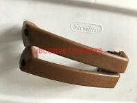 1965 Thru 1977 Corvette Interior Door Pull Handles - Dark Saddle -