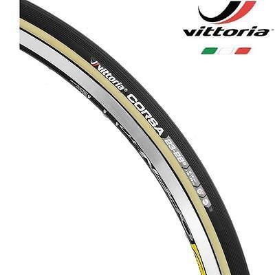 Road Clincher 700x25 Tyre ALL BLACK 2x Vittoria Open Corsa Graphene Plus G