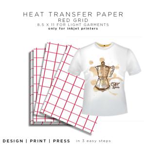 Inkjet Heat Transfer Paper HTV iron on heat press T-shirt 5shtRG new improved #1