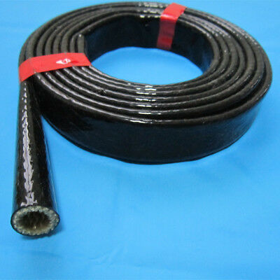 """3//8/"""" 10MM FIRE SLEEVING RED SILICONE BRAIDED FIBERGLASS INNER CORE HOSE 1 METER"""