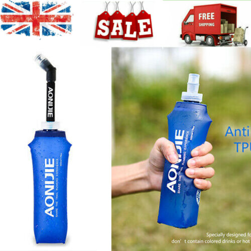 AONIJIE 500MM Folding Water Bottles BPA-Free Collapsible Kettle Cup With Straw