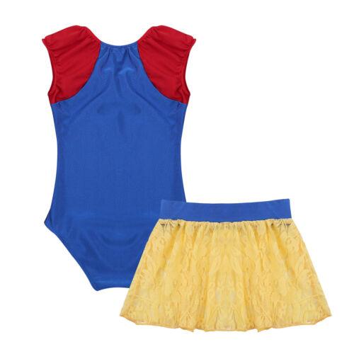 Girls Stage Performance Ballet Dance Leotard Kids Fancy Outfit Showman Costume