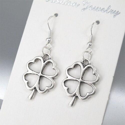 24 x Wholesale Lots Silver Alloy St Patrick/'s Four Leaf Clover Celtic Earrings
