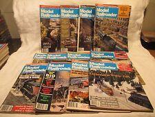 Model Railroader Magazine Lot of 12 issues Full Year 1986 January-December