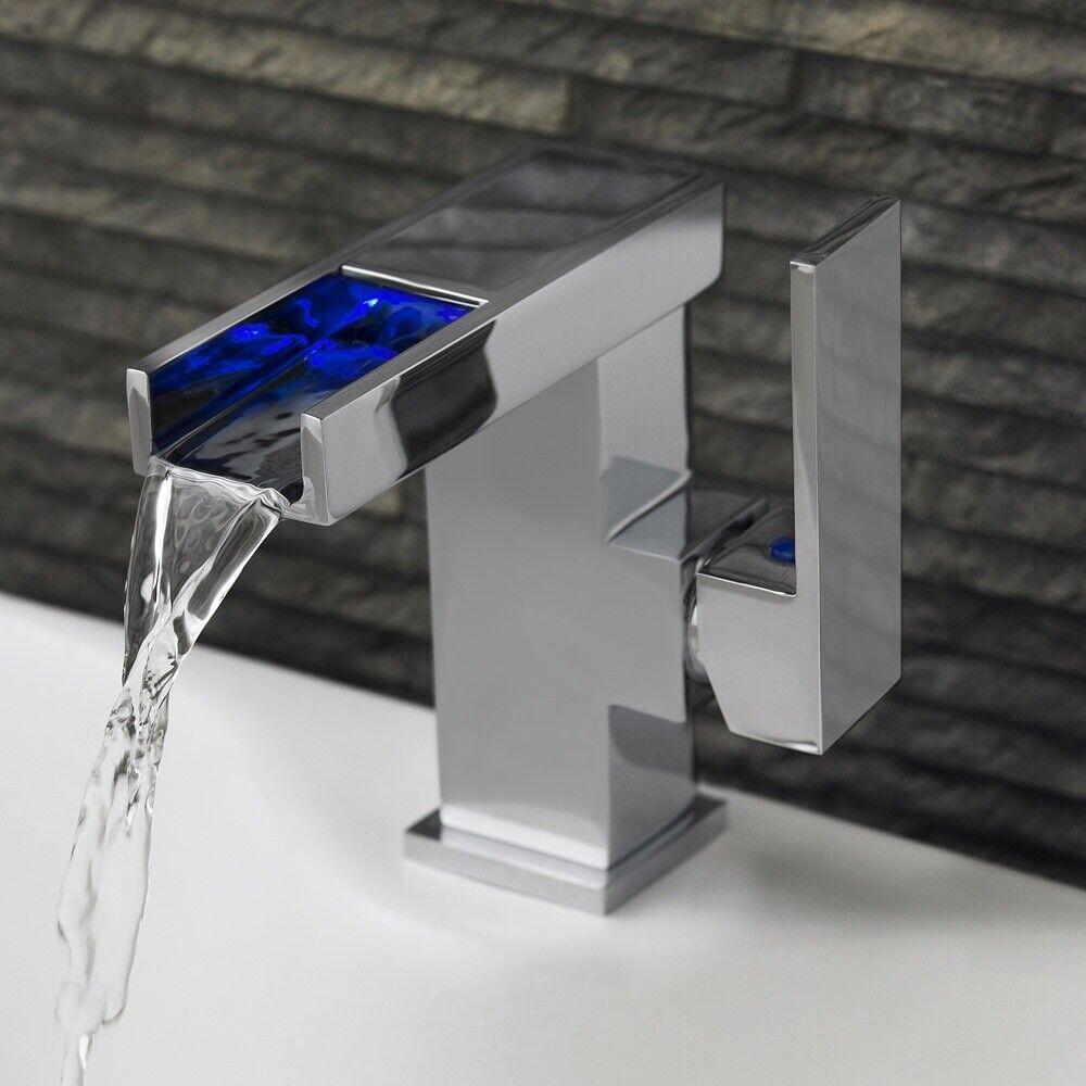 Premier Serie P LED Lato azione Mono Bacino Cascata rubinetto miscelatore