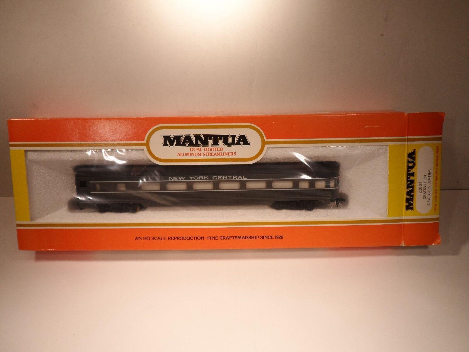 MANTUA HO Scale Dual Lighted Aluminum Streamliner 226-22 Observation New York