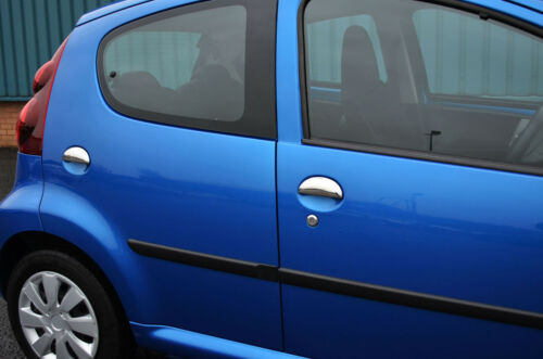 2005-14 Chrome Door Handle Trim Set Covers To Fit Toyota Aygo 4dr