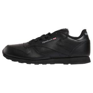1b6d0802a La imagen se está cargando Zapatillas-Classic-Leather-Reebok-Negro-Ninos