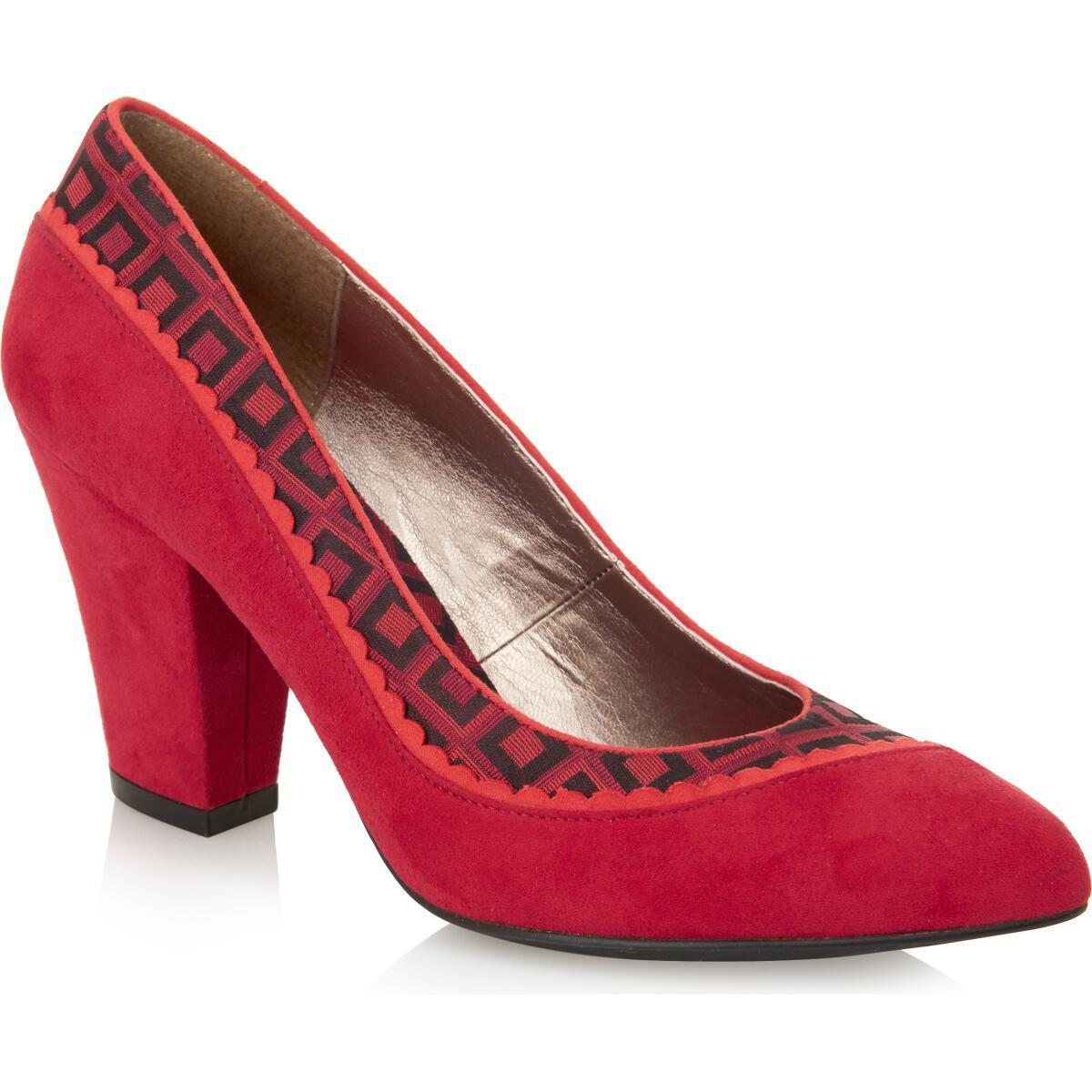 Ladies Ruby Shoo - Elly Red Court shoes - EU 36 - 39