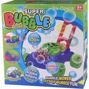 Auto Bubble Lawn Mower Machine Blower Garden Party Toddler
